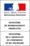 Logo Ministère du Redressement Productif / Ministère de l'Artisanat, du commerce et du tourisme